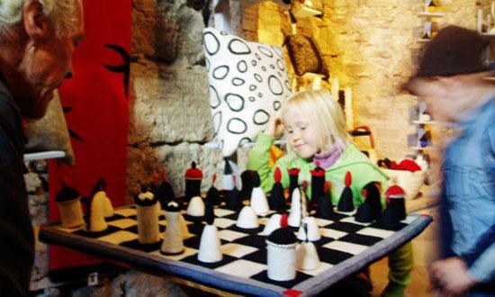 Ett parti vid det tovade schackspelet.